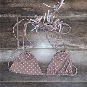 Acacia swimwear top polka dot